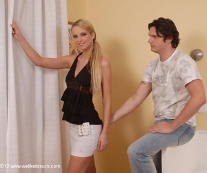 Teenager Anita was drilled rock hard in her wide-opened..
