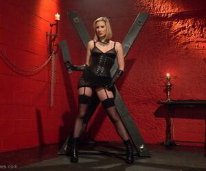 MILF dominatrix Maitresse Madeline Marlowe demonstrates..