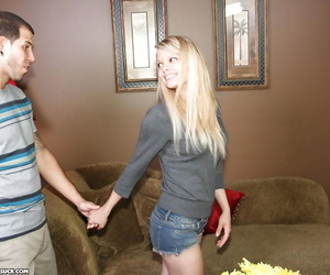 Lascivious mature ash-blonde with petite ass demonstrating..