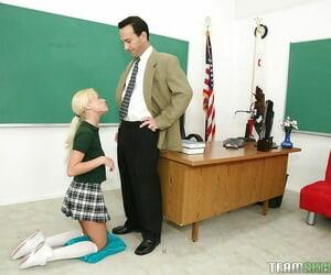 Fascinating schoolgirl Rebecca Blue is doing the best..