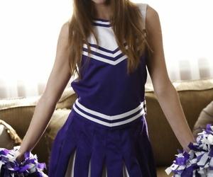 Teenager cheerleader Riley Reid smallish and older guy..