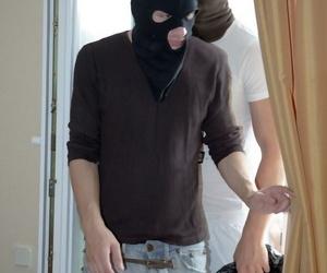 Sleeping ash-blonde is screwed by masked home invaders in..
