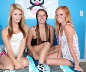 Three horny teens jerking off one successful man - part 46