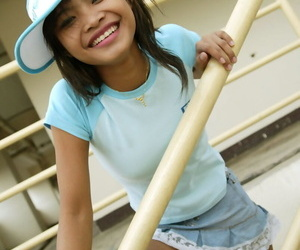 Thai cutie upskirt activity outdoors and she has no..