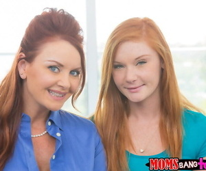 Step-daughter/step-mother redheaded tag-team fucking a..