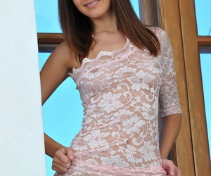 Slurps teenage Arina B rare her ideally formed figure from..