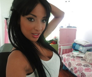 Promiscuous Latina drool-filled Anissa Kate films her own..