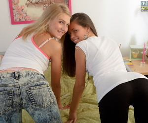 Teen girls Kitty & Maggy are best buddies that share all..