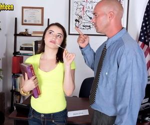 Teenager pornstar Kylie Quinn takes a rail on a schlong..