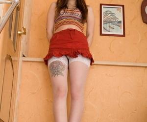 Nerdy Legal yr old Russian girl Anni Bay sans bra her..