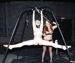 Teen girl Ally Ann and her girlfriend tortured and nailed..
