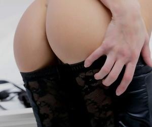 Erotic youthfull sweetheart in tipsy & seized underwear..