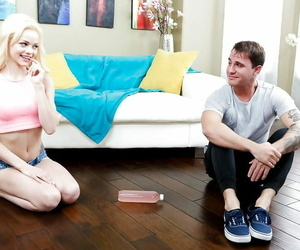 Barely legitimate tattooed light-haired teen Elsa Jean..