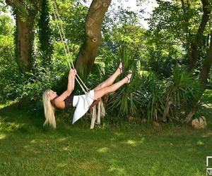Light-haired European honey Vanessa Staylon showcasing off..