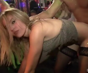Nightclub Sluts Blow and Nail Masculine Strippers 63