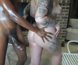 Choco-Vanilla Lubricant - Plumper & 11-inch Big black cock..