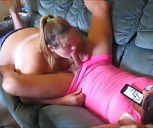 Cheatting wife sucks young & warm sissy girl fat shaft &..