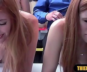Teenager and big-titted mature stepmom suspects punish..