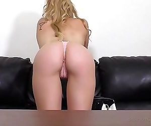 Tongues Blonde in Glasses Anal and Spunk Facial cumshot 13..