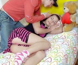 Hot teen Sharon C nails her boyfriend and gets a jizz shot..