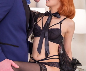 Young redhead Michelle Carr heads Ass-to-mouth after..