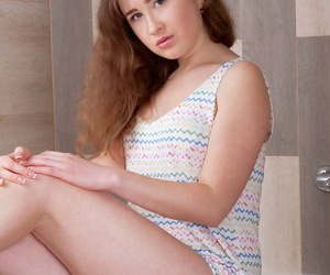 Eighteen year old woman uncommon her budding knockers from..