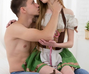 Skinny teen Adel Bye gets banged by her stepbrother in..