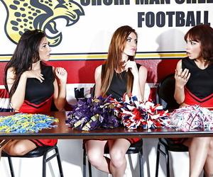 Lesbian cheerleaders having joy featuring August Ames and..