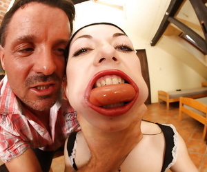 Euro whore Isabella Clar gets her face jammed total of..