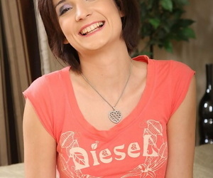 Short-haired dickblowers amateur unclothing and vibing her..
