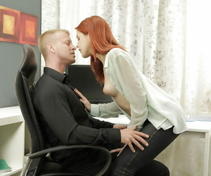 Redhead harmless experienced Amarna Miller is toying with..