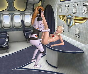 3D android sex lesbians fucking 02