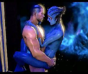 Mass Effect - Samara and Shepard..