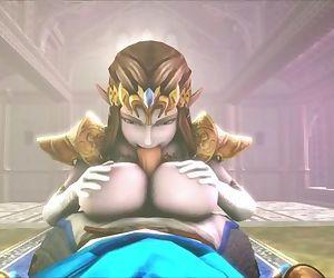 Big-Titted Slut Zelda Titfucks..