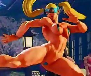 Mika Street Fighter Oil Body