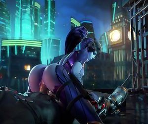 Overwatch Widowmaker rides huge..