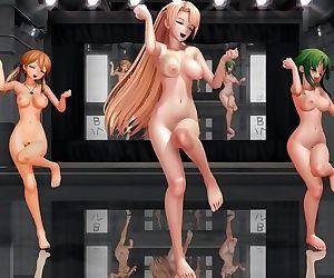 3D MMD Angela, Prinz Eugen & Gumi..