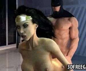 Hot 3D cartoon Wonder Woman gets..