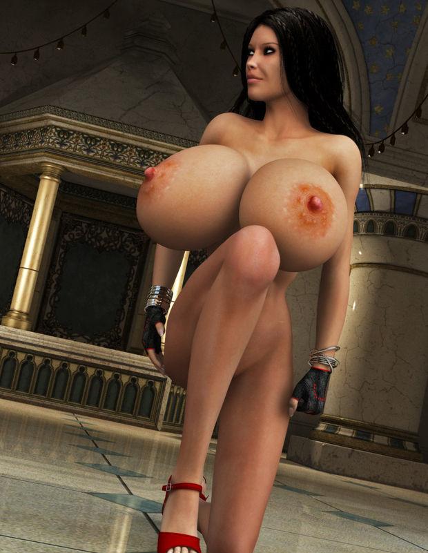 3D huge tits