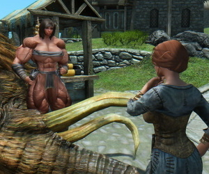 Muscle female mod for Skyrim size..