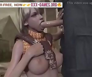 Sweet blowjob in porn game! 2 min
