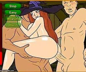 Meet N Fuck- Witch gangbang - 3 min