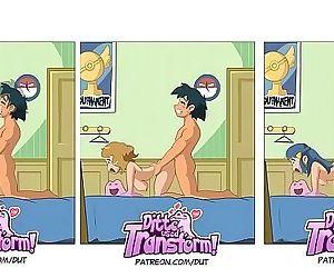 Pokémon: Ash fucking pokégirls 3 min