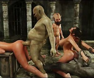 Savage Monster 3D Sex - Perils Of Lara Croft: Part 2