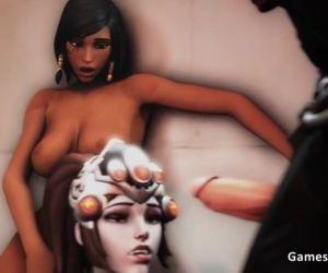 Overwatch Pharah Widowmaker Reaper Threesome