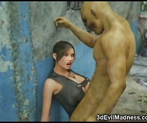 3D Lara Croft Ruined by Brutal Orcs!