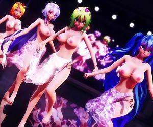 3D MMD Big Tits Squadron Dances Pai Ranger