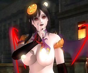 Dead or Alive 5 1.09BH - Succubus Honoka Victory Pose #1 Happy Halloween
