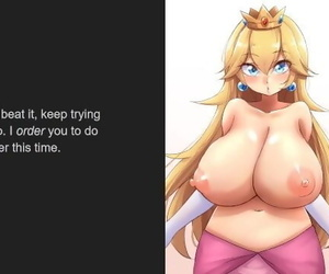 Princess Peach - Breath, Spit, Pet, Ass and Piss Play, Humiliation JOI