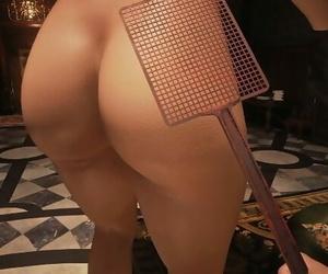Resident Evil 8 - Lady Dimitrescu Spanked by Fly Swatter Resident Evil Village: Big Booty Lady